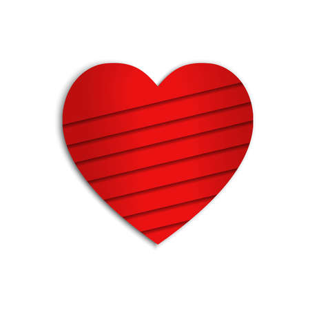 heart icons isolated with paper cut style can be used for applications or websites