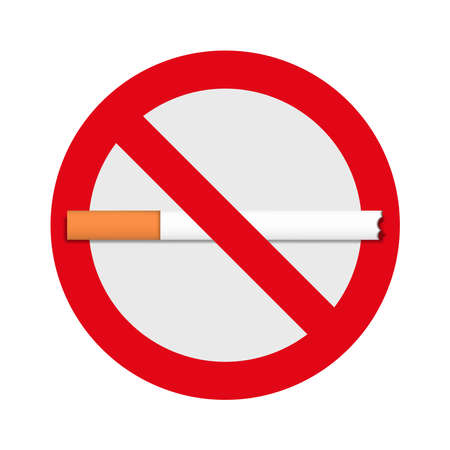No-smoking sign icon for the application and website