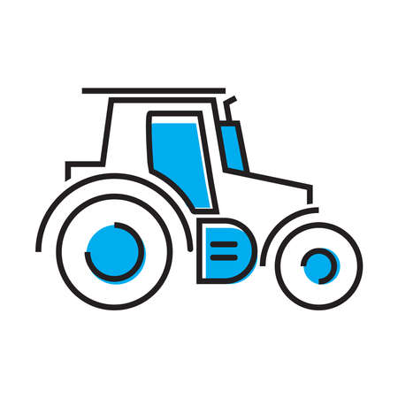Tractor icon for applications and websites