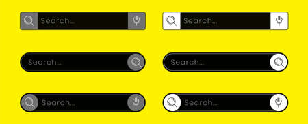 web search bar design for the application interface or website. vector element illustration  イラスト・ベクター素材