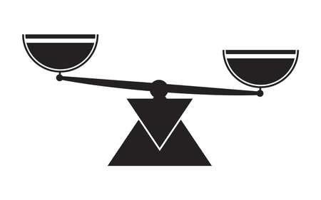 Libra scale balance symbol icons. Vektorgrafik