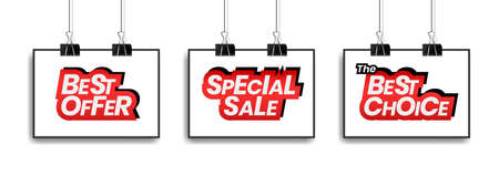 Special sale. the best choice and Best offer tag label for promotion in social media.