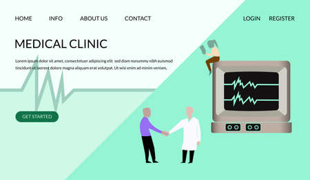 Web design templates for online medical support, health care, laboratory, medical services, can for use,web,banner,poster,leaflets, illustration element -Vector