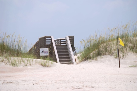 Stairs leading from the beach on Anastasia Island