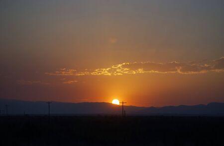 この壮大なアリゾナ州サンセットをお楽しみください。 写真素材