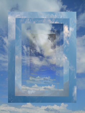 Sky photos turn into an interesting abstract of clouds and a path leading to wherever your imagination wants to take you