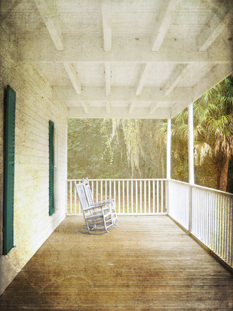 front porch: The front porch of the Thursby House in Blue Springs, Florida, brings you back to a time before air conditioning when the family would sit outside in the evening hoping to catch a cool breeze