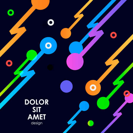 Abstract background with zip line and dots. Illustration