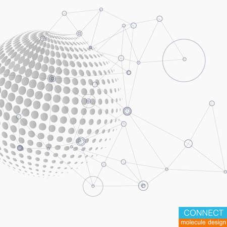 Vector world globe, connect concept design illustration.