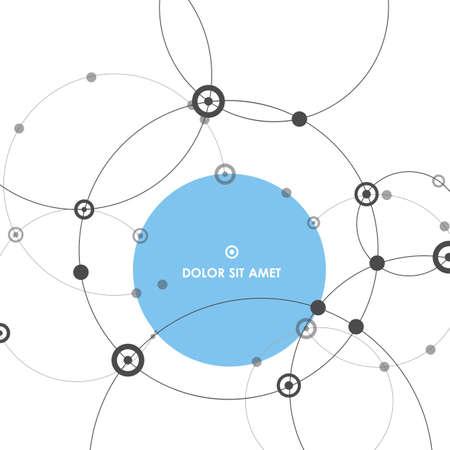 Abstract network circle background. Ilustração