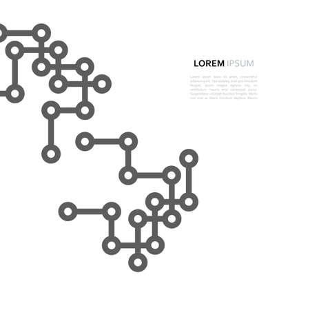 Network connection minimal design line and dot Illustration