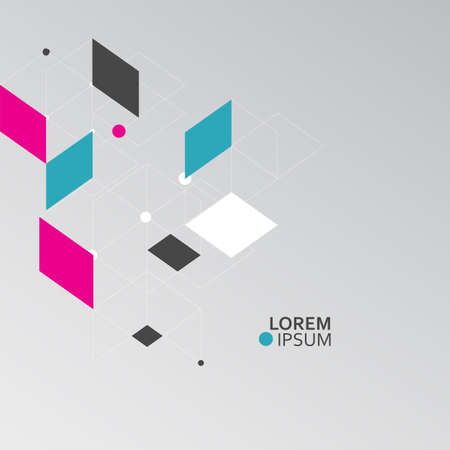 Vector patrón de hexágonos. Conexión, genética, ciencia, química y red social.