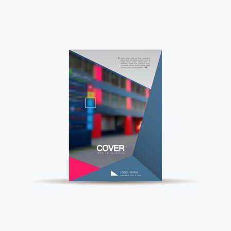 Brochure modello di progettazione della città. Vector Copertina libretto, portfolio, report, presentazione. Business Concept Design. Archivio Fotografico - 86628719