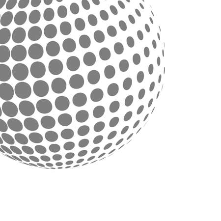 Abstract dotted sphere icon. Illustration