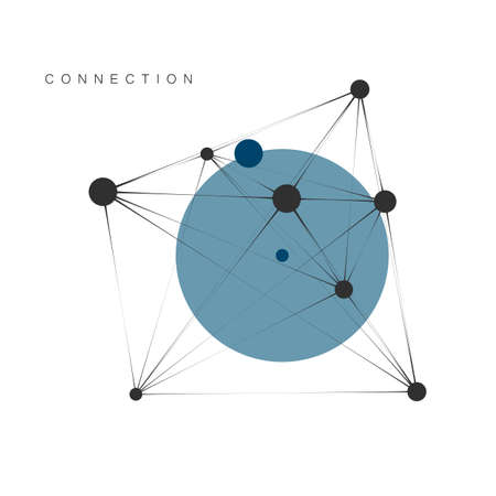 Abstract vector technology, network and connect background Illustration