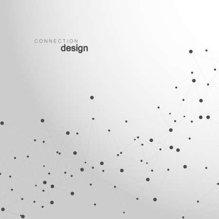 human evolution: Abstract technology structure. Vector network polygonal space background with connecting dots and lines. Illustration
