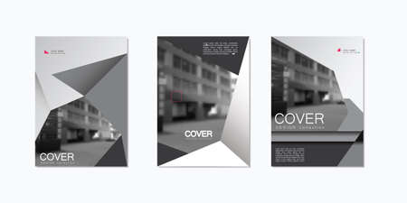 web marketing: Greyscale Brochure Design Template. Vector in A4 size.
