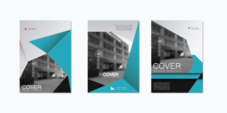 website backgrounds: Greyscale Brochure Design Template. Vector in A4 size.