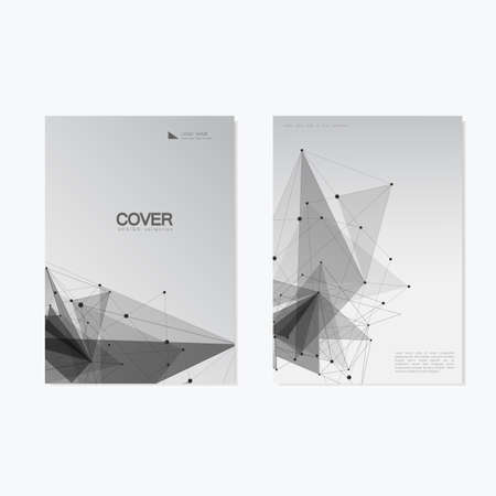 blank magazine: Business Cover Brochure Design  Vector Geometry Abstract Background.