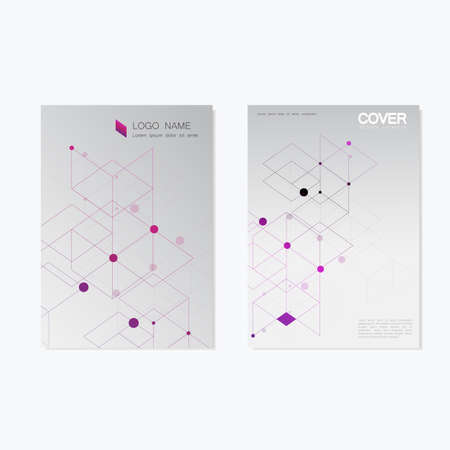 blank magazine: Business brochure design with abstract hexagon pattern. Vector cover background.