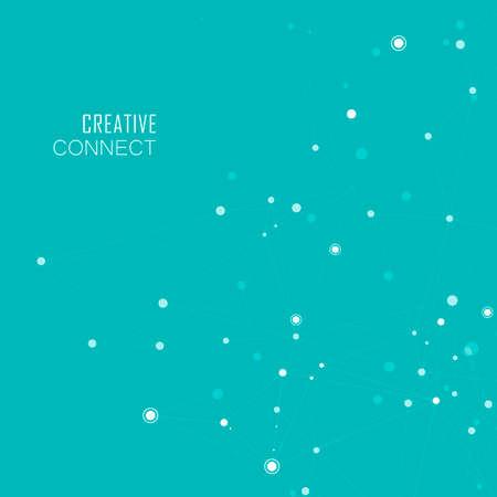 Red de tecnología para conectar con puntos y líneas. Fondo creativo de la ciencia.