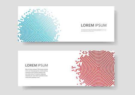 Color abstract vector circle pattern design in halftone texture