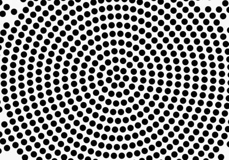 Black abstract vector circle pattern design in halftone texture