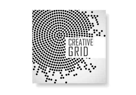 Modèle de brochure avec motif en demi-teintes pour rapport annuel, magazine, flyer
