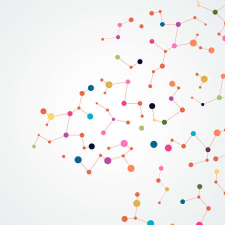 Abtract background with connected line and dots