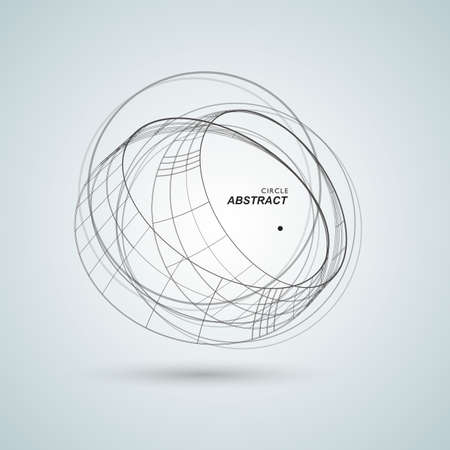 Résumé connecter fond de conception de cercle. Formes abstraites créatives.
