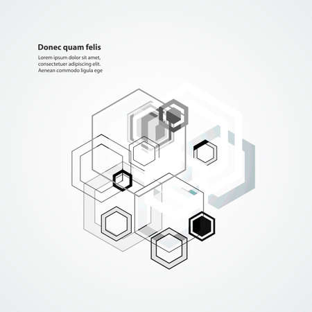 Abstract connect hexagonal structure background.