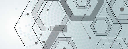 Abstract geometric background with gexagon shapes.