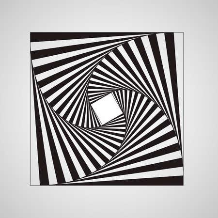 Abstract swirl square vortex structure Foto de archivo - 109659613