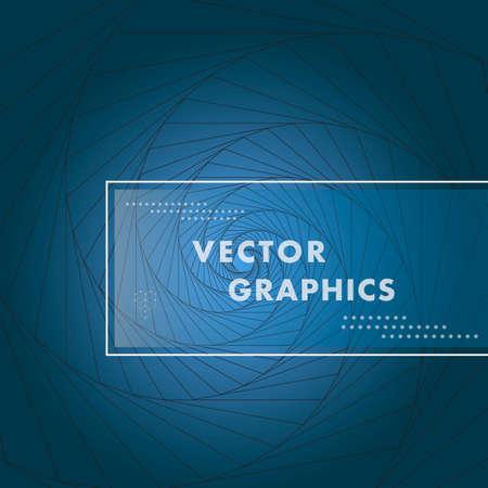 Spiral design creative element. Vector graphic background Illustration