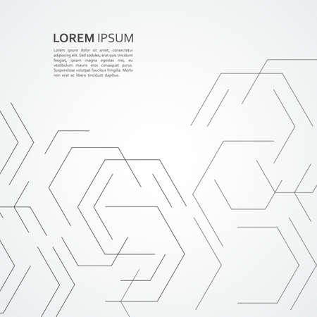 Shape of hexagon style design. Vector abstract technology illustration.