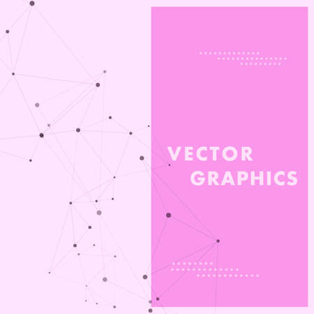 Abstract connection structure and vector connect science background