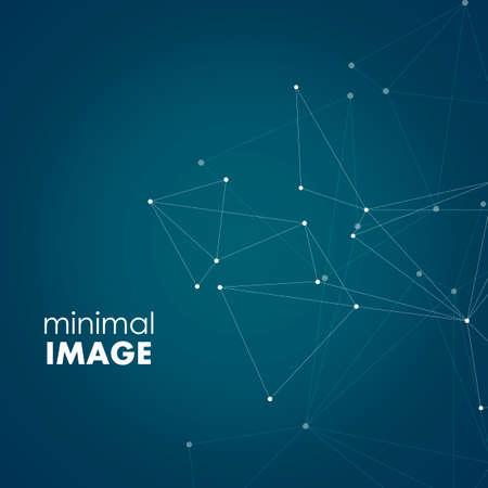 Abstrakte Verbindungsstruktur auf dunklem Hintergrund mit verbindenden Punkten und Linien