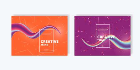 Creative design abstract flow shape and liquid wave vector background. Illusztráció
