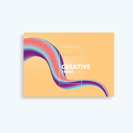 Geometric vector background with bright colors and dynamic wave beautiful concept. Illustration
