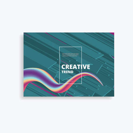 Geometric vector background with bright colors and dynamic shape compositions