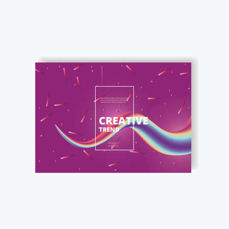 Wave abstract clorful background with 3d effect. Flow Liquid Shapes. Illustration