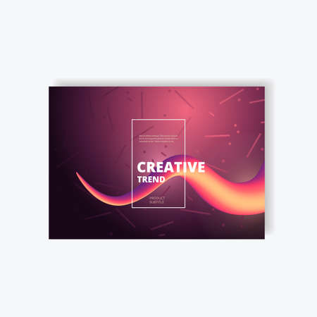 Wave abstract colorful background with 3d effect. Flow liquid shapes design. Illustration
