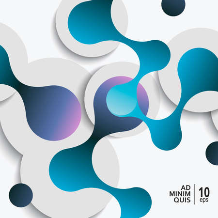 Vector abstract background with connect circles and circles shadows.