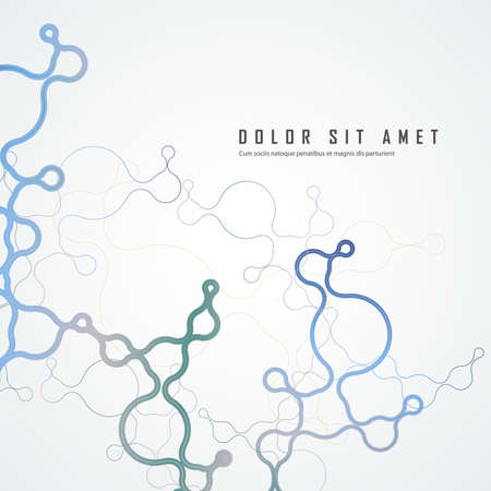 Abstract connecting dots and lines. Network science background