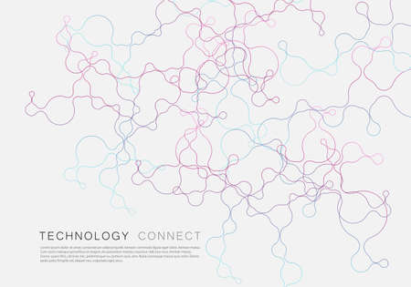 Abstract geometric brochure background with connected lines and dots