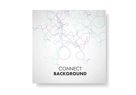 Vector templates for brochure cover in A4 size. Polygonal background with connecting dots and lines Stok Fotoğraf - 130841192