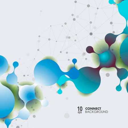 Polygonal science research design background. Futuristic modern abstract vector illustration