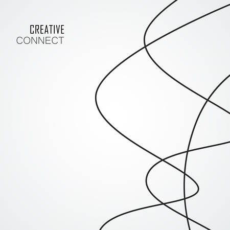 Abstract vector background with connected smooth lines
