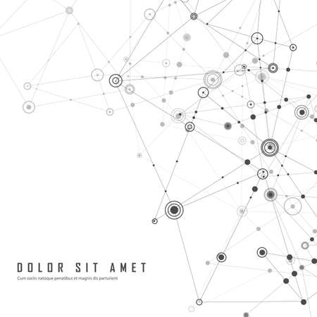 Abstract polygonal background. Geometrical design with connecting dots and lines