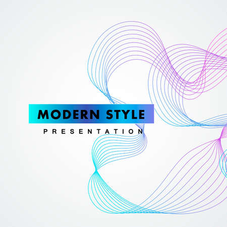 Abstract design element. Vector connect lines background